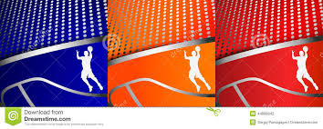Backgrounds Basketball Three Colorful Abstract Basketball Backgrounds Stock Illustration