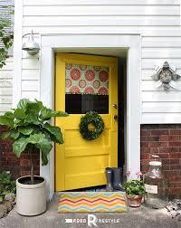 modern front door orange. Front Door Makeover By Robb Restyle | Modern Masters Non-Fade Paint In Orange