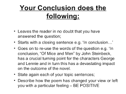 writing conclusions in english essays essays for ross mckibbins