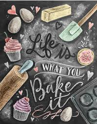 Kitchen Artwork Cute Chalkboard Art Print For A Shabby Chic Kitchen Picture