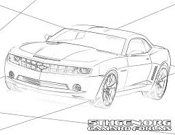 printable camaro coloring pages