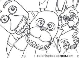 Fnaf Coloring Pages Nightmare Family Five Nights At 2 Coloring Pages