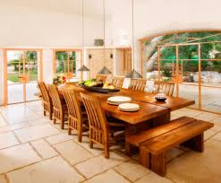 Natural Wood Dining Tables 12 Seat Dining Table Extendable Brown Oval Teak Wooden Dining