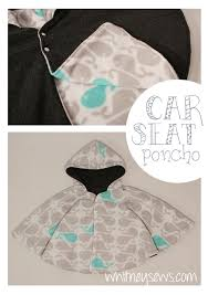 car seat poncho how to whitney sews