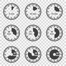 Set Of Icons Set Of Timers On A Transparent Background Vector