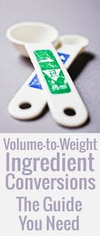 Ingredient Weight Chart Ingredient Conversions Chocolate Zucchini