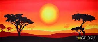 African Sun Landscape Scenic Background Grosh In 2019