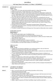 Crm Analyst Resume Samples | Velvet Jobs