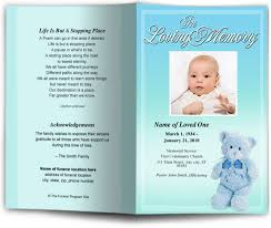 Design Your Own Funeral Program Nursery Funeral Program Template 5 Colors
