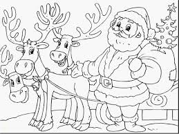 Santa Claus And Rudolph Coloring Pages With Reindeer His Printable