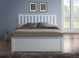 brand new phoenix wood ottoman bed frame storage small double 4ft white