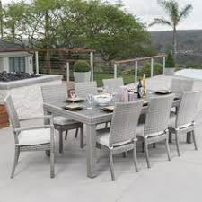 wade logan castelli 9 piece sunbrella dining set with cushions color moroccan cream deck design