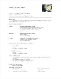 Resume Template With References References List Template Present How
