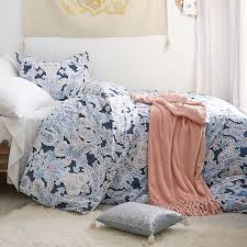 pink and gray paisley duvet cover pbteen