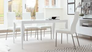 dining sets seater: white gloss  seater dining table and real leather dining chairs youtube