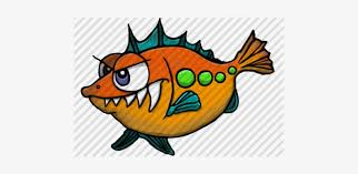 Hand-drawn Cartoon Alien Fish By Aaron Goodson - Pomacentridae - 480x320  PNG Download - PNGkit