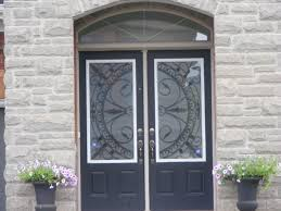wrought iron gl door inserts home design ideas