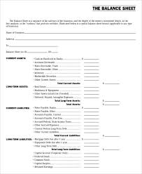 sample balance sheet for non profit non profit sheet templates 6 free word pdf format download free