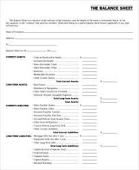 sample balance sheet for non profit non profit sheet templates 6 free word pdf format download free