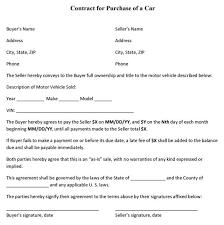 Sale Of Car Contract Selling A Car Contract Form Rome Fontanacountryinn Com