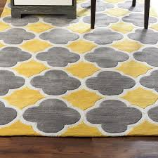 concept grey and yellow rug
