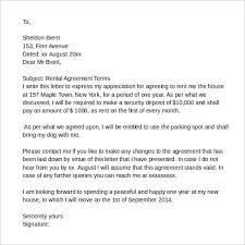sample agreement letters sample rental agreement letter 7 documents in pdf word