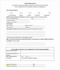 Incident Forms Templates Beautiful 25 Lovely Stock Workplace