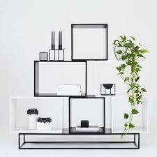 designer boxy modular cube storage shelving unit ash italian marble