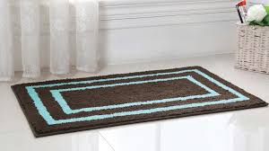 regency manor microfiber bath rug 21x34 brown blue