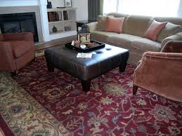 large square ottoman living room traditional with area rugs casual