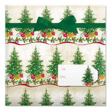Christmas Tree Labels Classic Christmas Tree Jumbo Rolled Gift Wrap And Labels