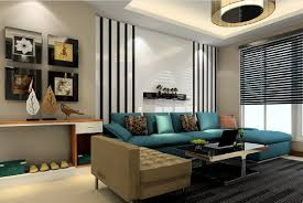Living Room Green Sofa And Black Carpet Download 3d House