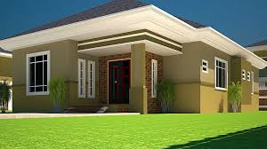 Captivating 3 Bedroomed House Designs House Plans Ghana 3 Bedroom House Plan For A Half  Plot In