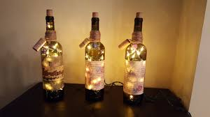Glass Bottle Lamps New Wine Bottle Lamps Days Of My Wine And Mellynn Designs