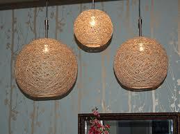 Hemp Pendant Lights {DIY Lights} ~ Super talented Heika DeHart strikes  again. These pendant lamps she made of hemp string are genius.
