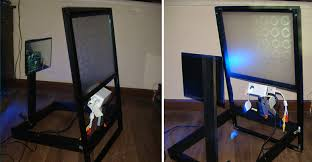 rear projection projector screen material fadertouch fadertouch fadertouch diy touchscreen momo the monster