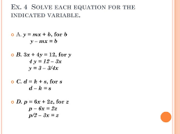 solve the equation or formula for indicated variable a 21 3w