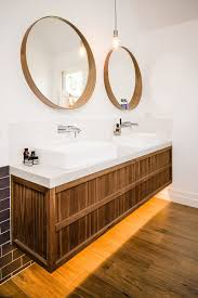headboard with mirror and lights bathroom contemporary with pendant light vessel sink bathroom pendant lighting double vanity modern