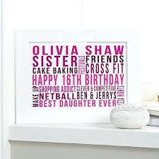 16th birthday gift ideas for daughter personalized s india