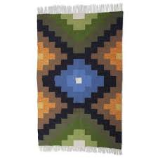 unicef market incan inspired hand woven wool area rug 4x6 power of three