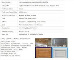 garage doors materials inspire european standard insulated wood garage door