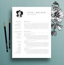 modern resume template cv template cover letter professional modern resume template 3pk cv template references letter creative resume template professional