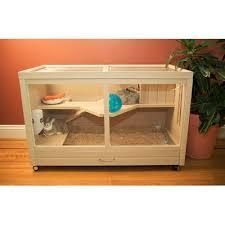 New Age Pet Park Avenue Indoor Small Animal Rabbit Hutch & Reviews | Wayfair