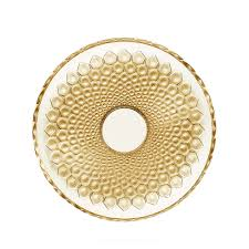 Gold Decorative Bowl Rayons Bowl Gold Luster Crystal Bowl Lalique Lalique