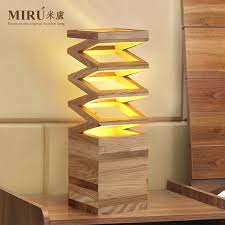 interior diy wooden lamps household giftcraft rectangular frame wood table lamp lights and also