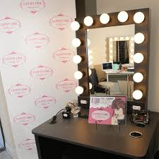 a really cool diy make up mirror with lights and power strips