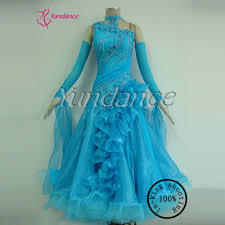 B Modern Costume Designer Yundance Luxury Ballroom Dance Dress Competition Girls