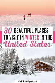 visit in winter in usa