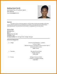 11 Resume Samples Philippines Resume Examples Pinterest Job