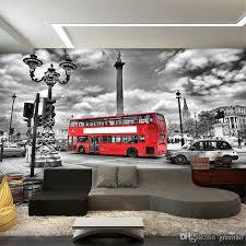 london bus street photo wallpaper custom european wall mural